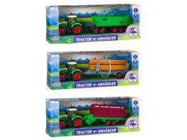 Mueller Toy Place Traktor mit Anhaenger 3 fach sortiert 1 Stueck