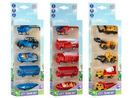 Mueller Toy Place City Team Set 5 Fahrzeuge 3 fach sortiert 1 Stueck