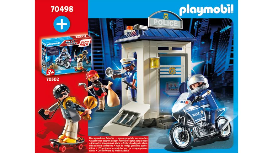 PLAYMOBIL 70498 City Action Starter Pack Polizei