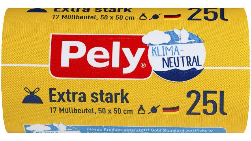 Pely® KLIMA-NEUTRAL Zugband-Beutel Extra-stark, 25 Liter