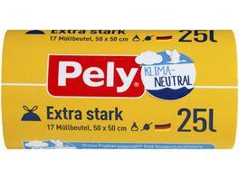 Pely KLIMA NEUTRAL Zugband Beutel Extra stark 25 Liter