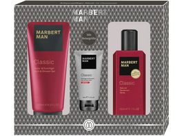 MARBERT Man Classic Set Bade Duschgel Natural Deodorant Spray Sport Bade Duschgel