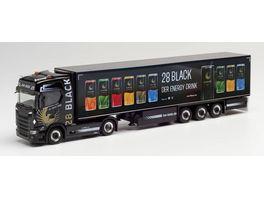 Herpa 312509 Scania CS 20 HD Kuehlkoffer Sattelzug TSU Bode 28 Black