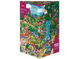 Heye Dreieckpuzzle 1500 Teile Wonderwoods Cartoon im Dreieck