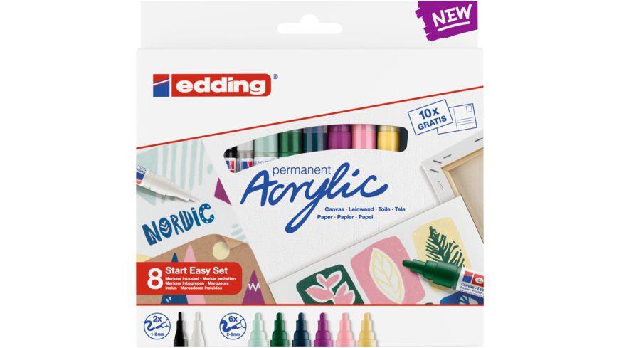 edding Start Easy 8er-Acryl-Set Nordic