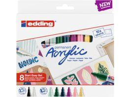 edding Start Easy 8er Acryl Set Nordic