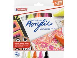 edding Acrylmarker 5000 5er Set breit neon