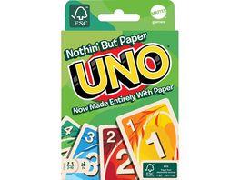 Mattel Games UNO 100 Papier Kartenspiel plastikfrei recycelbar Familienspiel