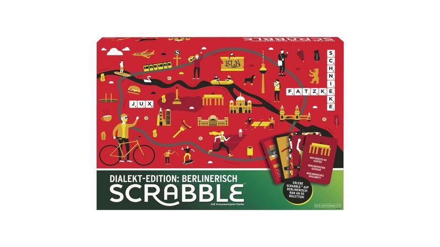 Mattel Games Scrabble Dialekt-Edition Berlin, Gesellschaftsspiel, Familienspiel