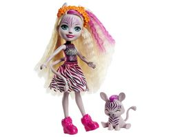 Mattel Enchantimals GTM27 Zadie Zebra Puppe