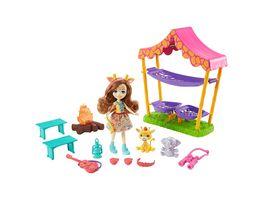 Mattel Enchantimals GTM33 Savannen Pyjamaparty Spielset mit Griselda Giraffe Puppe