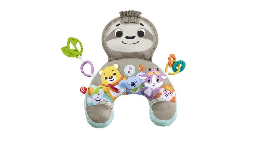Fisher-Price Faultier-Spielkissen mit Vibration, Baby-Spielzeug ab 0 M