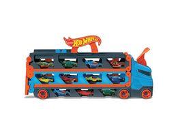 Hot Wheels 2 in 1 Rennbahn Transporter inkl 3 Spielzeugautos