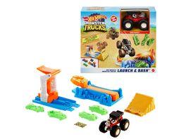 Mattel Hot Wheels Monster Trucks Startrampen Crash