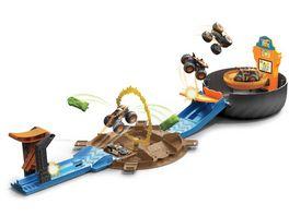 Hot Wheels Monster Truck Stunt Reifen Spielset inkl 2 Spielzeugautos