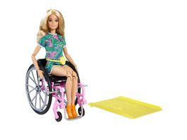 Mattel Barbie Fashionistas Barbie Puppe blond mit Rollstuhl