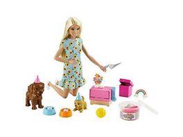 Barbie Hunde Party Spielset mit Puppe mit Spiel Knete und Zubehoer