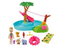 Barbie und Chelsea Dschungelabenteuer Dschungelparty Spielset