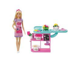 Barbie Floristin Puppe Spielset mit Knete und Zubehoer