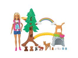 Mattel Barbie Waldtier Forscherin Puppe und Spielset