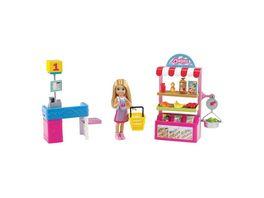 Barbie Chelsea Supermarkt Spielset mit Puppe und Zubehoer