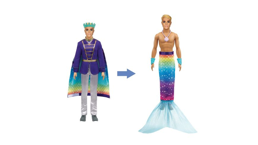 Mattel - Barbie - Dreamtopia 2-in-1 Prinz & Meermann Puppe