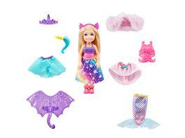Barbie Dreamtopia Chelsea 3 in 1 Fantasie Puppe Anziehpuppe Meerjungfrau