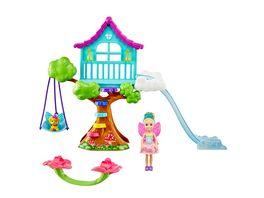 Mattel Barbie Dreamtopia Chelsea Feen Baumhaus Spielset mit Puppe