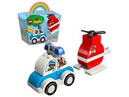 LEGO 10957 DUPLO Mein erster Feuerwehrhubschrauber und mein erstes Polizeiauto