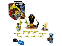 LEGO 71732 NINJAGO Battle Set Jay vs Serpentine Spielzeug