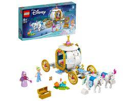 LEGO 43192 Disney Princess Cinderellas koenigliche Kutsche Spielzeug