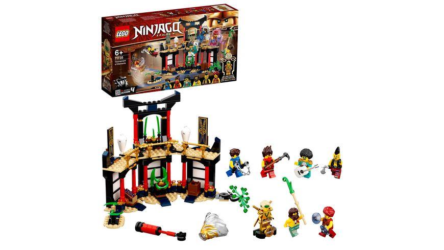 LEGO 71735 NINJAGO Turnier der Elemente, Konstruktionsspielzeug