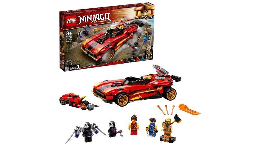 LEGO 71737 NINJAGO X-1 Ninja Supercar, Konstruktionsspielzeug