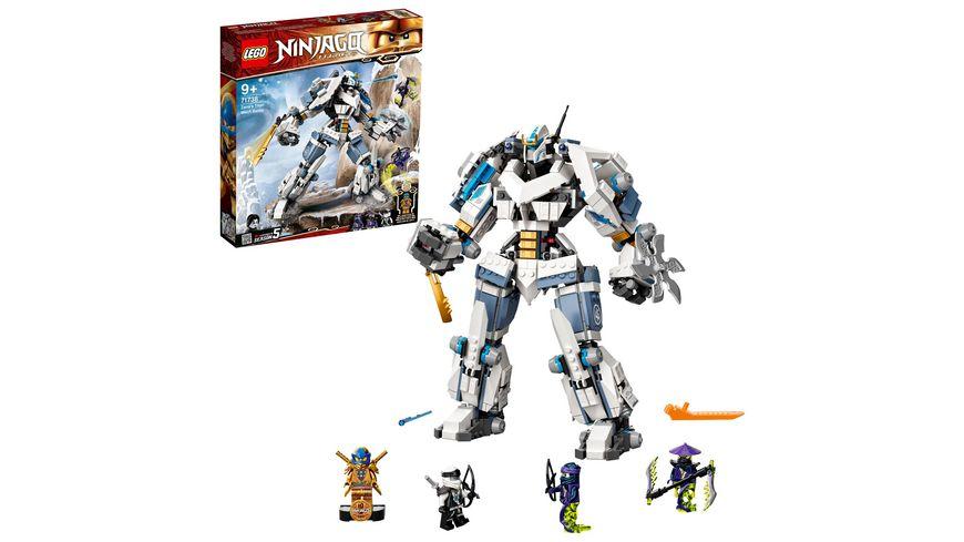 LEGO 71738 NINJAGO Zanes Titan-Mech, Konstruktionsspielzeug