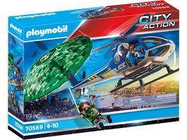 PLAYMOBIL 70569 City Action Polizei Hubschrauber Fallschirm Verfolgung