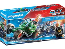 PLAYMOBIL 70577 City Action Polizei Kart Verfolgung des Tresorraeubers
