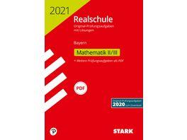 Original Pruefungen Realschule 2021 Mathematik II III Bayern nur online erhaeltlich