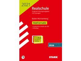 Original Pruefungen Realschule 2021 Mathematik BaWue Ausgabe mit ActiveBook nur online erhaeltlich