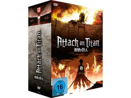 Attack on Titan 1 Staffel Gesamtausgabe DVD Box 4 DVDs