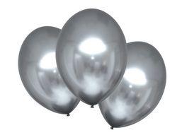 Amscan 6 Latex Balloons Satin Luxe Platinum 27 5cm