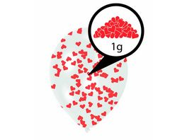 Amscan 6 Latex Balloons Clear Confetti Filled Red Hearts Paper 27 5 cm