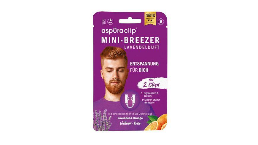 aspUraclip Mini-Inhalator 2er Set Lavendel