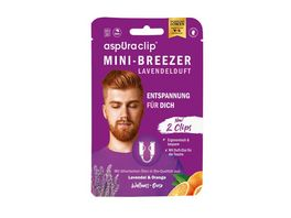 aspUraclip Mini Inhalator 2er Set Lavendel