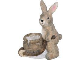 Boltze Keramik Hase mit Schubkarre