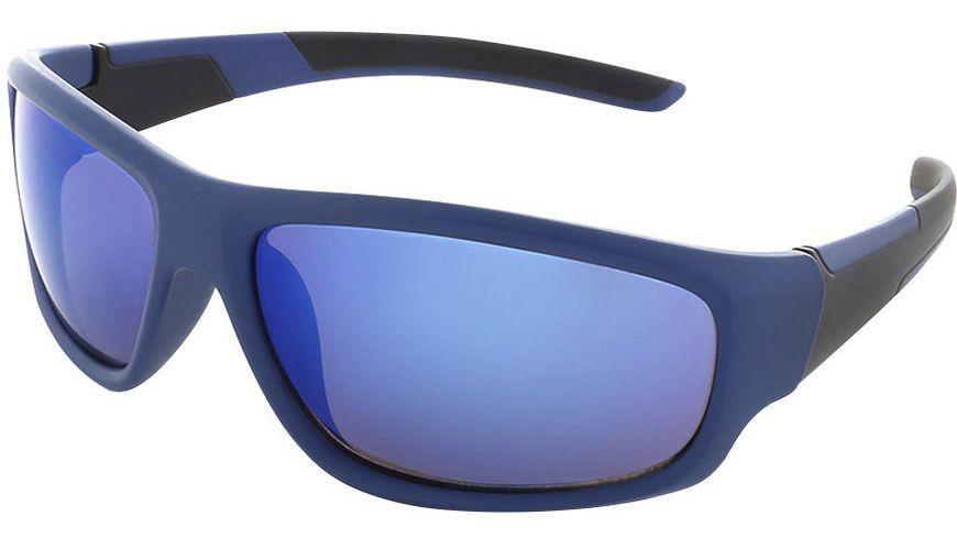 Basley Sun KIDS Sonnenbrille 8107-S-34 Kunststoff Blau Verspiegelt