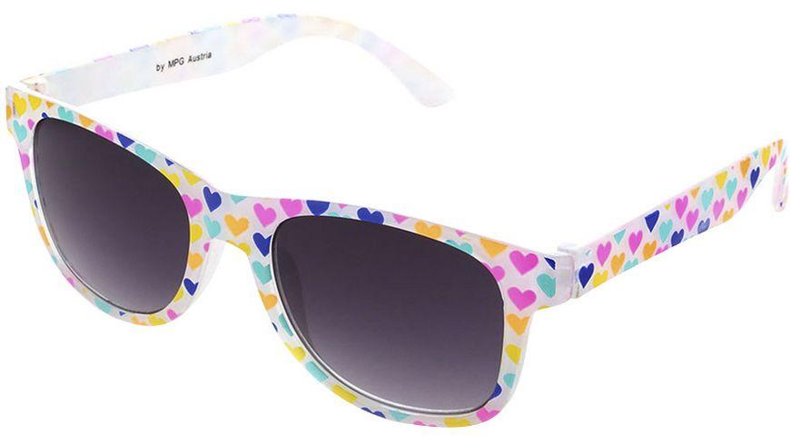 Basley Sun KIDS Sonnenbrille 8094-A-30 Kunststoff Weiss/Herzen