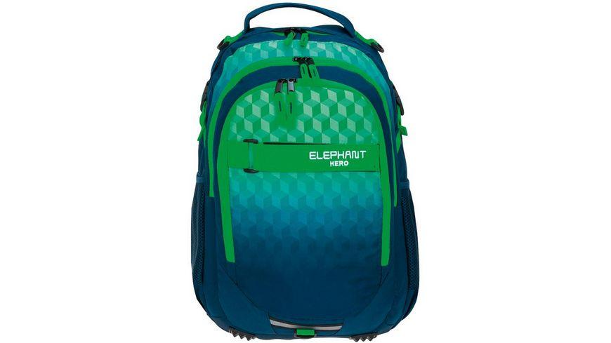 ELEPHANT Rucksack grün / blau 2021