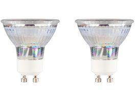 Xavax LED Lampe GU10 350lm ersetzt 50W Reflektorlampe PAR16 Warmweiss Glas 2 Stueck