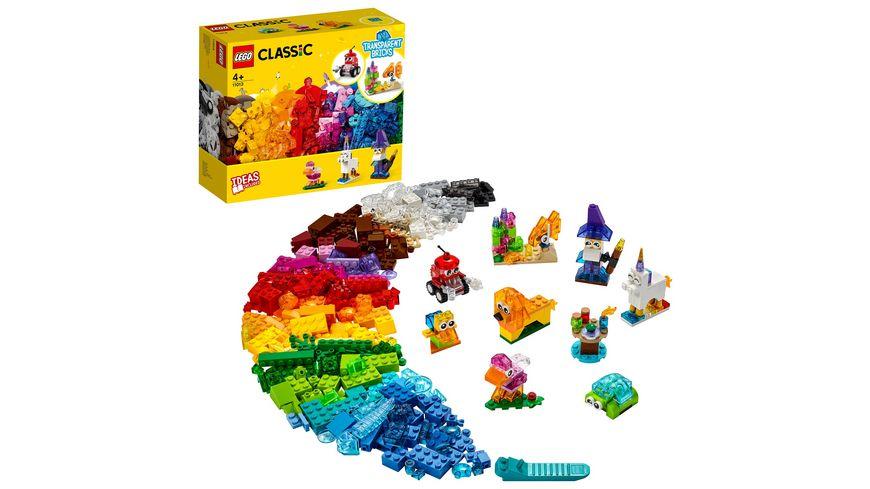 LEGO Classic - 11013 Kreativ-Bauset mit durchsichtigen Steinen