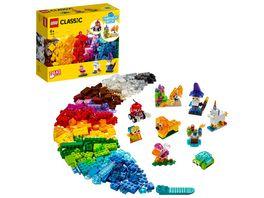 LEGO 11013 Classic Kreativ Bauset mit durchsichtigen Steinen Spielzeug